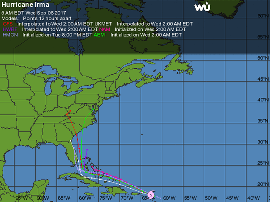 The latest model run as of Wednesday morning confirms