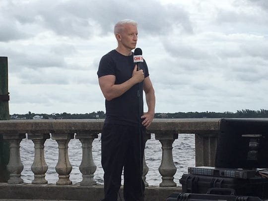 CNN anchor Anderson Cooper is reporting and anchoring