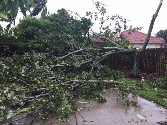 Hurricane Irma damage along Newport Drive in Indialantic