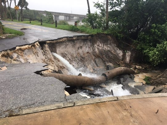 Water main break in Cocoa.