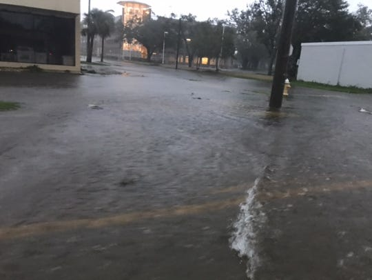 Flooding on streets in and around U.S. 41 from Colonial