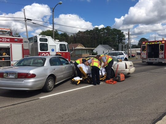 Ontario police and Springfield Township Fire Department handled a two-vehicle crash with injuries Friday afternoon on West Fourth Street just west of Home Road.