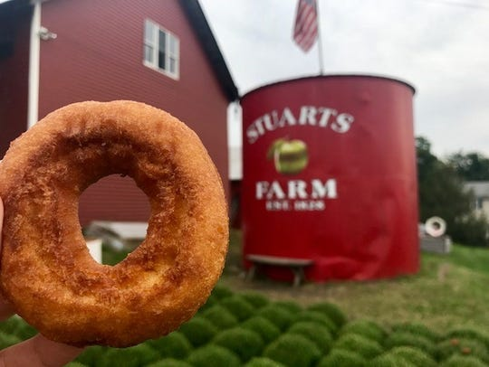 The cider doughnuts at Stuart's can be ordered with