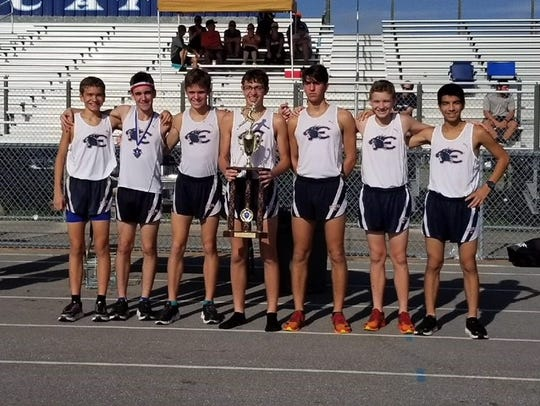 Estero's cross country team finished second overall