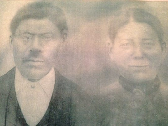 Amos and his wife Isabella.