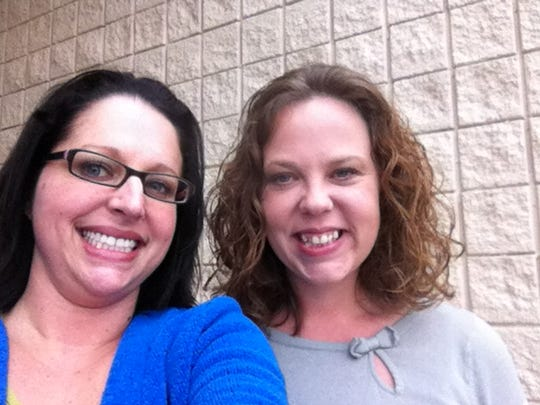 Melanie Crow (right) and best friend Annie Wortham pictured together in 2012. Photo provided by Annie Wortham.