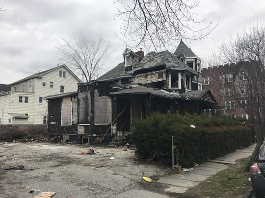 Fire-damaged home at 271 South Second Ave. in Mount