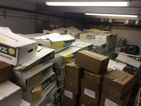 Boxes of meals from King Foods, a faith-based non-profit