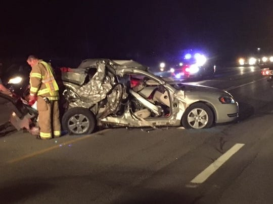Three people - two juveniles and an adult were injured Saturday night on Ohio 39 at Plymouth-Springmill Road in a two-vehicle crash. The patrol is investigating.