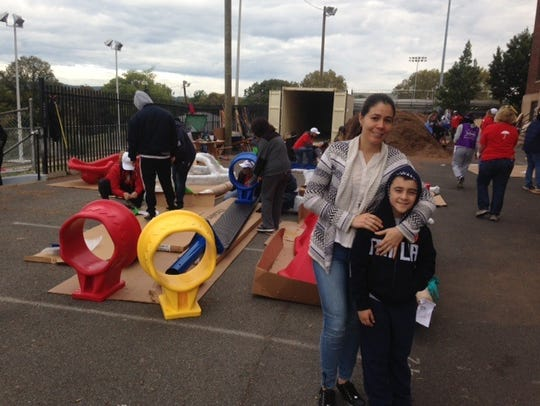 Diana Reberrom and her son, Miguel Becerro, at the