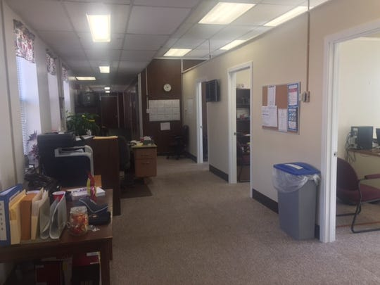 The York County deputy coroner space is designated for the three full-time deputies. The 10 part-time deputies have no dedicated workspace.