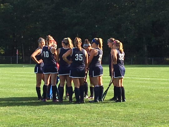 The Toms River North field hockey team gets ready to