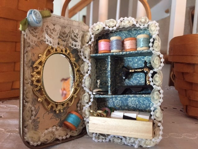 Don't throw out your empty mint tins. Here's a great way to recycle them into mini works of art!