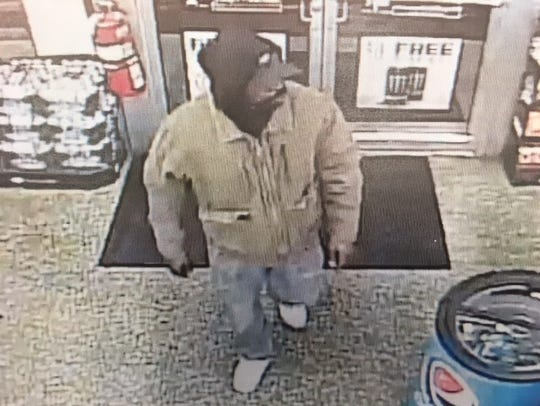The York City Police Department released this surveillance photo of a man wanted for murdering a clerk at the Exxon gas station on West Market Street and South Richland Avenue in York on Oct. 17, 2017.