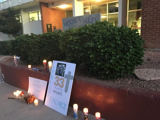Friends and fellow students held a vigil Sunday evening