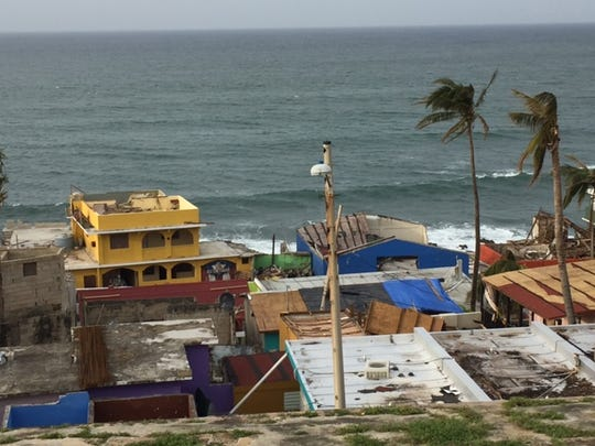 Puerto Rico during Hurricane Maria