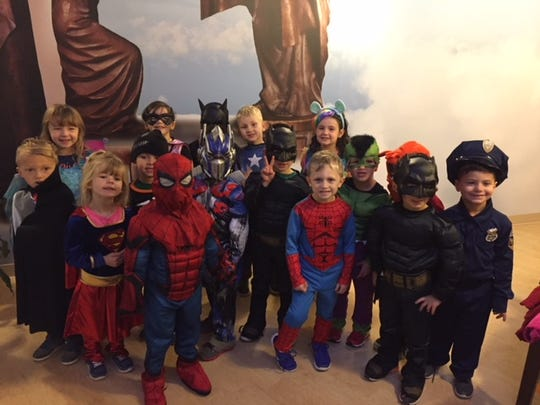 Pre-K students from St. Anthony's Learning Center visited