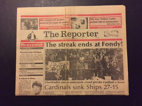 The epic 1987 streak-ending win over Manitowoc was