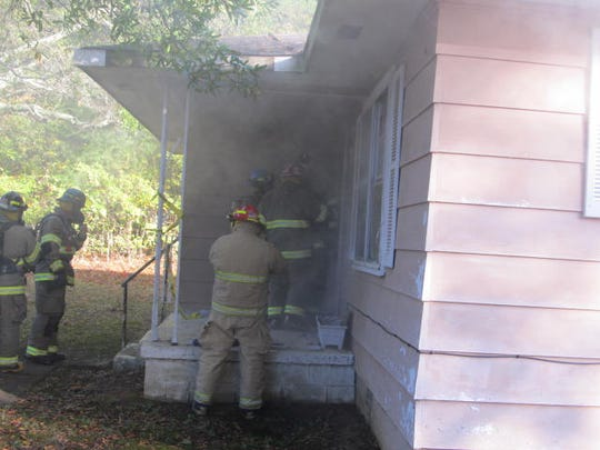 Huntingdon Fire & Safety conducts controlled burn Oct. 28 as a training exercise for firefighters.