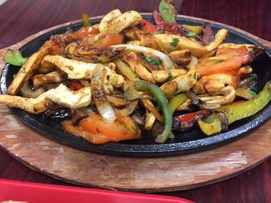 Chicken fajitas at La Lupita Restaurante Mexicano.