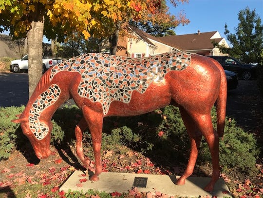 """Reflecting Change"" is one of the 21 horses painted"