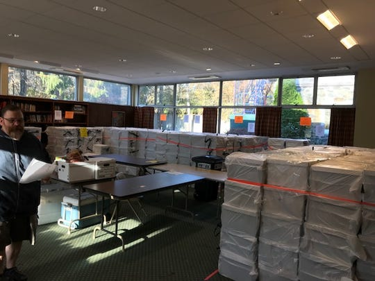 More than 700 boxes filled with Thanksgiving meals
