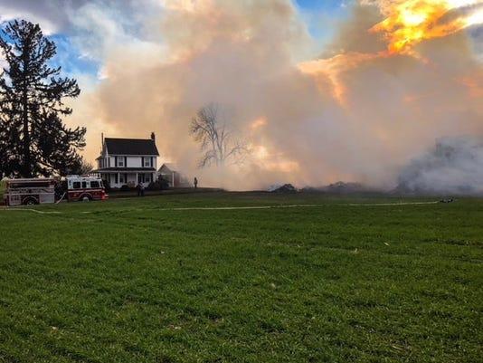 Chanceford Brush fire 11/22 - 1