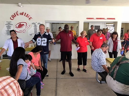 Cafe of Life served 125 people-in-need a Thanksgiving
