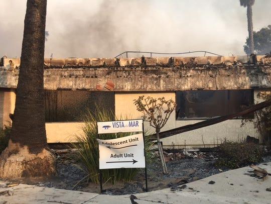 Fire gutted this adolescent care unit at Vista del Mar Hospital in Ventura.