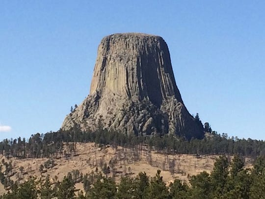 Devil's Tower in Wyoming.
