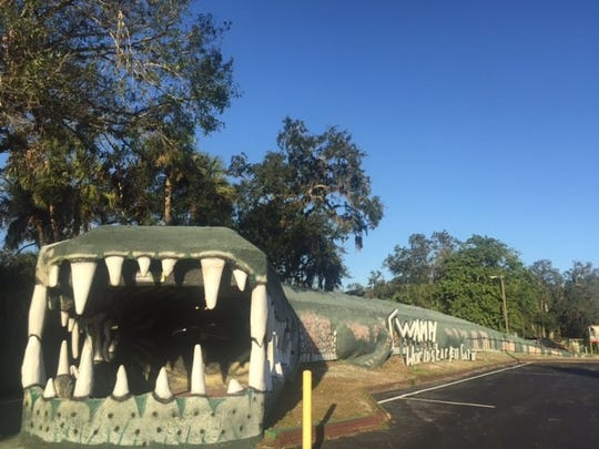"Traveling through Christmas, Florida, motorists can't miss Swampy, billed as the ""World's Largest Gator."""