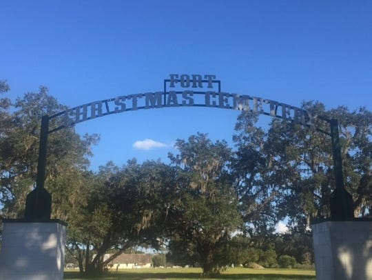 The Fort Christmas Cemetery, a private burial place,