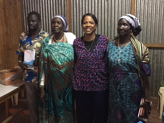 Rosalind in Kenya with South Sudanese refugees.