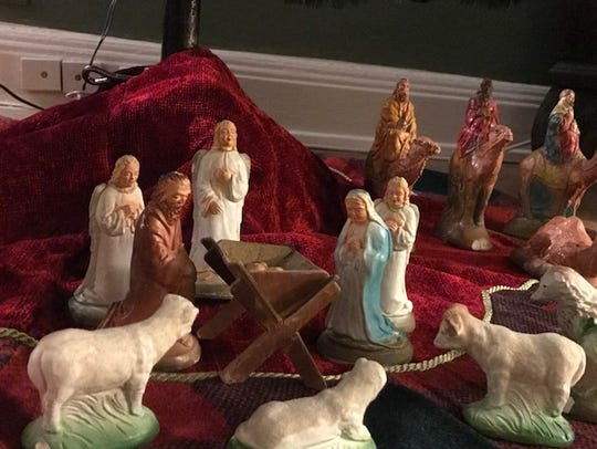This Nativity scene has shown up annually under the