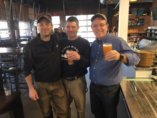 From left, Little Miami Brewing Co. brewmaster Jim
