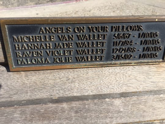Michelle Wallet and her daughters are memorialized
