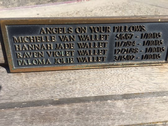 Michelle Wallet and her daughters are memorialized on a bench overlooking a Ventura beach. They died in the La Conchita landslide 13 years ago Wednesday.