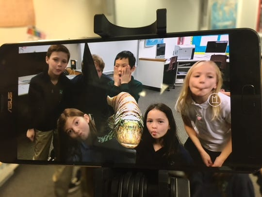 Far Hills Grade 4 students interacted with a 3-D fish