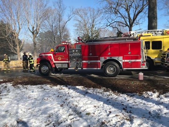 Several departments, including Greenbrier, responded