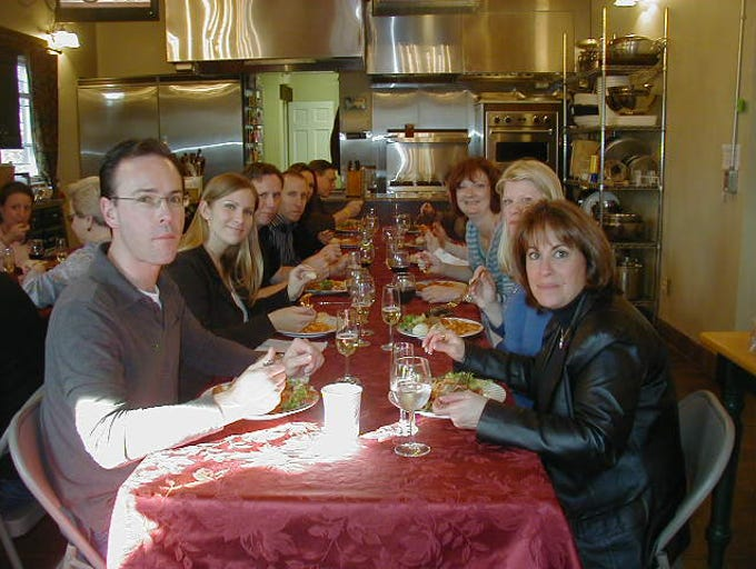 A group of students at Classic Thyme Cooking School