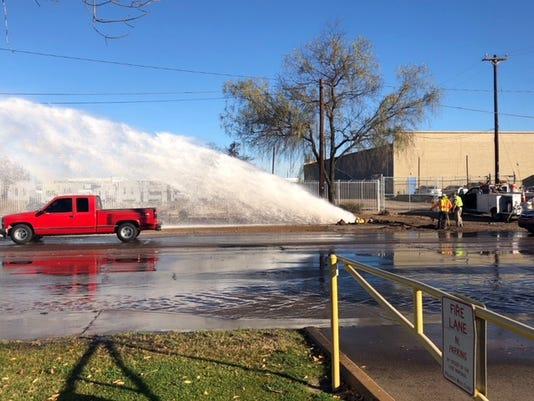 Car strikes hydrant in Phoenix