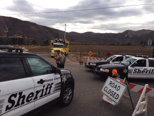 Authorities closed access to Mission Rock Road near Santa Paula for some time after an explosion at the Santa Clara Waster Company's facility in November 2014.