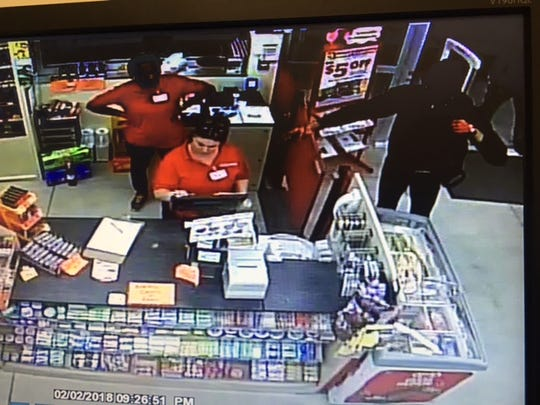 Two suspects robbed a Family Dollar in Lehigh Acres at gunpoint. Authorities are investigating.