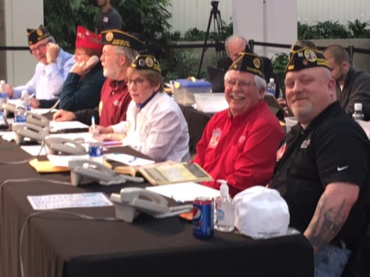 Ken Estep, executive director of the Richland County Veterans Service Commission, second from right, helps man the phones in 2018 at the Catalyst Rehab Telethon at the Richland Mall.