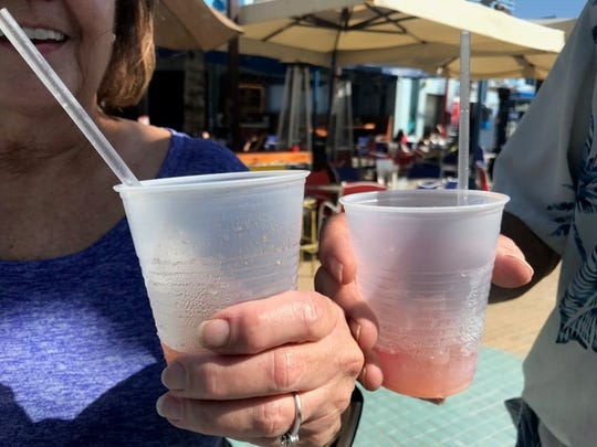 For the most part plastic straws were absent from Fort