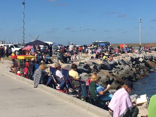 Port Canaveral's Jetty Park area was a popular place