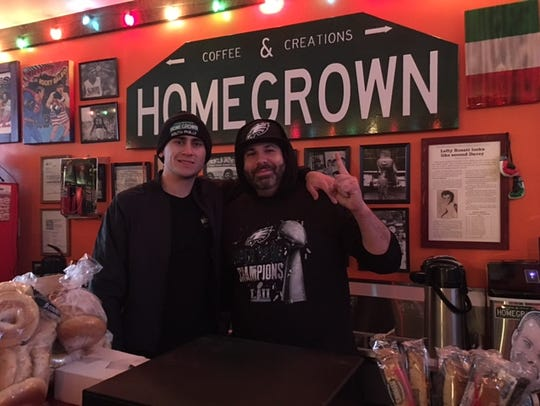 HomeGrown Coffee and Creations owners Jimmy Rossoni