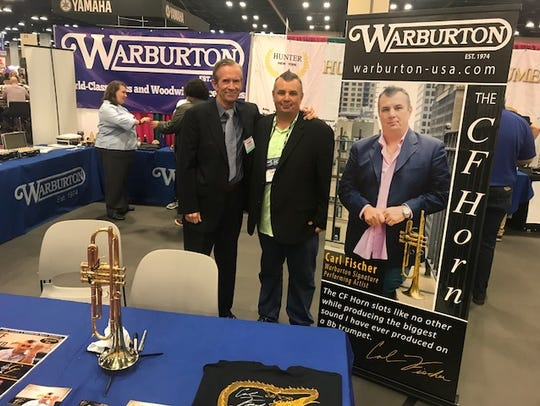 Terry Warburton, left, founder of Warburton Music Products,