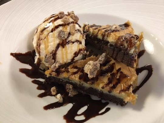 For something sweet, try the cream cheese brownie sundae