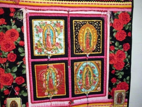 A striking interpretation in cloth and thread.